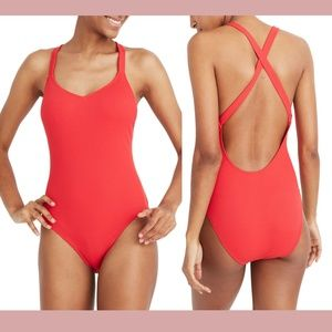 NEW Madewell Second Wave Rib One-Piece Swimsuit XL
